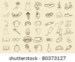woman things  seamless. beige   Shutterstock .eps vector #80373127