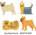 cartoon dogs collection | Shutterstock .eps vector #80376400