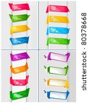 huge set of colorful origami... | Shutterstock .eps vector #80378668