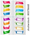 huge set of colorful origami... | Shutterstock .eps vector #80378668