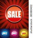set of colorful shiny sale... | Shutterstock .eps vector #80380402