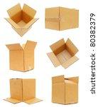 set of carton boxes | Shutterstock . vector #80382379