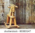 Old Rocking Horse On A Rustic...