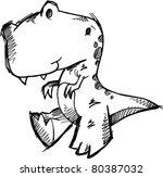 dinosaur doodle sketch vector...   Shutterstock .eps vector #80387032