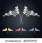 checkered flags set | Shutterstock .eps vector #80393905
