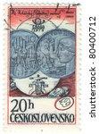 czechoslovakia   circa 1978  a... | Shutterstock . vector #80400712