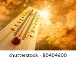 thermometer in the sky  the heat | Shutterstock . vector #80404600
