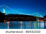 the lion's gate bridge in... | Shutterstock . vector #80432320