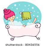 young woman relaxing in the... | Shutterstock . vector #80436556