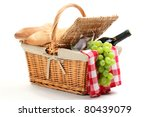 picnic basket filled with fruit ... | Shutterstock . vector #80439079