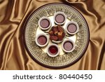 a set of arabic tea cups with... | Shutterstock . vector #80440450