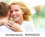 portrait of happy girl hugging... | Shutterstock . vector #80446024
