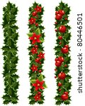 green christmas garlands of... | Shutterstock .eps vector #80446501