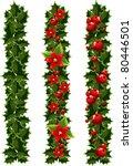 green christmas garlands of... | Shutterstock .eps vector #80446501