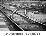 Railway Tracks In Front Of The...