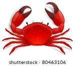 red crab  shellfish jpeg | Shutterstock . vector #80463106