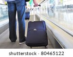 traveler with a bag on the... | Shutterstock . vector #80465122