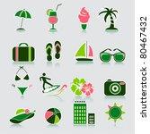 summer icons  vector | Shutterstock .eps vector #80467432