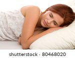 sleeping woman | Shutterstock . vector #80468020