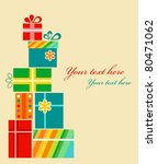 Set Of Colorful Present Boxes . ...