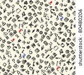 seamless pattern depicting a... | Shutterstock .eps vector #80480206