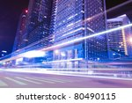 urban landscape at night and...   Shutterstock . vector #80490115