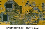Color Card printed circuit board for a PC computer - stock photo