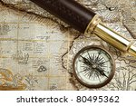 antique traveling equipment ... | Shutterstock . vector #80495362