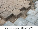 Bricks Coming Together On A...