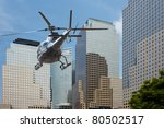 Helicopter Flying Between The...