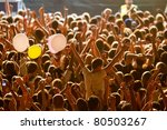 yellow lighted arded crowd at a ... | Shutterstock . vector #80503267