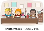 illustration of faculty members ... | Shutterstock .eps vector #80519146