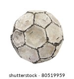 Old Soccer Ball With Clipping...