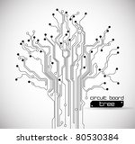 circuit board tree background | Shutterstock .eps vector #80530384