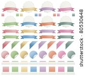 collection of web elements ... | Shutterstock .eps vector #80530648