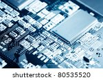 close up of electronic circuit... | Shutterstock . vector #80535520