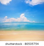 beach of koh samui and tropical ... | Shutterstock . vector #80535754