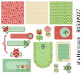 baby scrap with bee | Shutterstock .eps vector #80539027