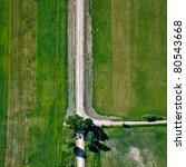 Aerial View Over Agricultural...