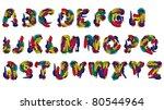 Vector fun font - stock vector