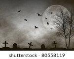 halloween night background | Shutterstock . vector #80558119