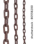 Rusty Old Steel Chain In Any...