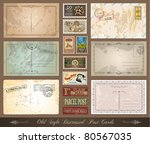 old style distressed postcards... | Shutterstock . vector #80567035