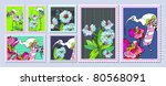stamps collection | Shutterstock .eps vector #80568091