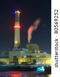 Power Plant by the River of Tel Aviv - stock photo