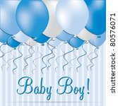 baby boy card in vector format. | Shutterstock .eps vector #80576071