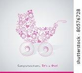 baby card | Shutterstock .eps vector #80576728