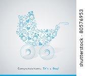 baby card | Shutterstock .eps vector #80576953