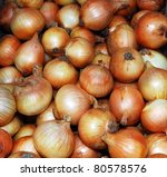 onions at the market - stock photo
