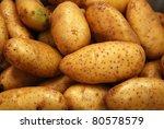 potato at a market - stock photo